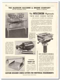 Madison Machine Engine Company 1956 vintage dairy catalog cheese cut