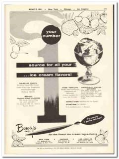 Boweys Inc 1956 vintage dairy catalog ice cream flavors fruits vanilla