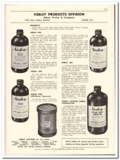 Albert Verley Company 1956 vintage dairy catalog flavors coagulator