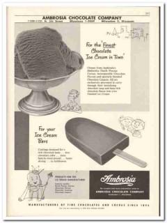 Ambrosia Chocolate Company 1956 vintage dairy catalog ice cream finest