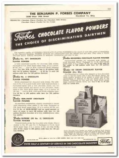 Benjamin P Forbes Company 1956 vintage dairy catalog chocolate flavor