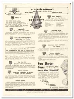 A E Illes Company 1956 vintage dairy catalog flavors fruit vanilla