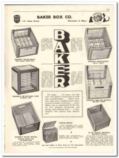 Baker Box Company 1956 vintage dairy catalog milk cases wood metal