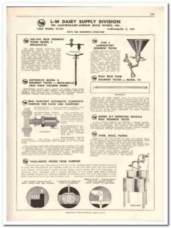 Langsenkamp-Wheeler Brass Works Inc 1956 vintage dairy catalog tester