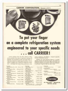 Carrier Corp 1956 vintage dairy catalog refrigeration system complete