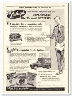 Lehigh Mfg Company 1956 vintage dairy catalog refrigeration condensing