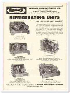 Brunner Mfg Company 1956 vintage dairy catalog refrigerating units