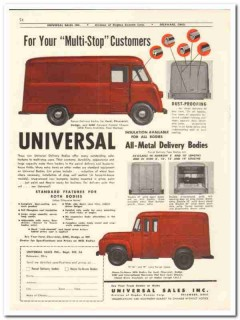 Hughes Keenan Corp 1956 vintage dairy catalog milk delivery bodies