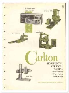 Carlton Machine Tool Company 1965 vintage industrial catalog drills