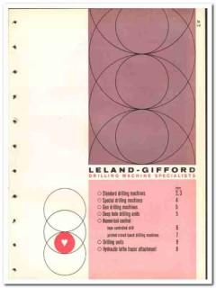 Leland-Gifford Company 1965 vintage industrial catalog machines drill