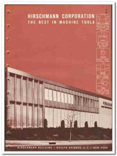 Hirschmann Corp 1965 vintage industrial catalog machine tools drills