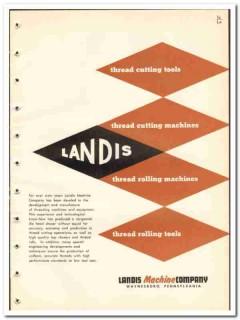 Landis Machine Company 1965 vintage industrial catalog thread cutting
