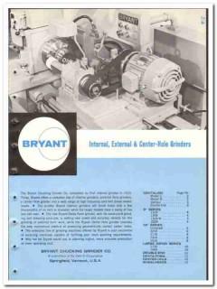 Bryant Chucking Grinder Company 1965 vintage industrial catalog
