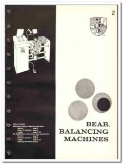 Bear Mfg Company 1965 vintage industrial catalog balancing machines