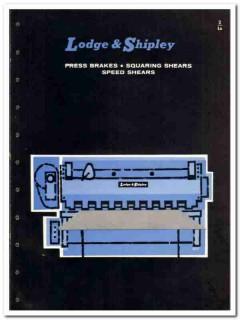 Lodge Shipley Company 1965 vintage industrial catalog press brakes