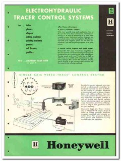 Honeywell 1965 vintage industrial catalog control systems Versa-Trace