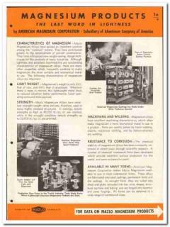 American Magnesium Corp 1946 vintage metal catalog lightness strength