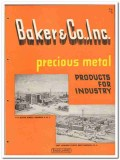 Baker Company 1946 vintage metal catalog precious industry products