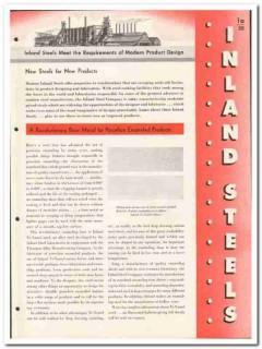 Inland Steel Company 1946 vintage metal catalog porcelain enameled
