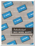 International Nickel Company 1946 vintage metal catalog monel alloys
