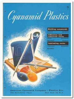 American Cyanamid Company 1946 vintage plastic catalog molding resins