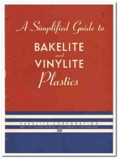 Bakelite Corp 1946 vintage plastic catalog vinylite guide molding