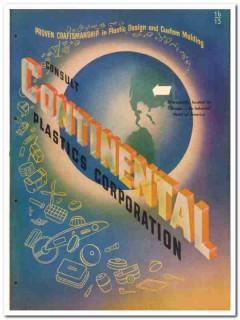 Continental Plastics Corp 1946 vintage catalog design custom molding
