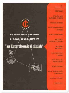 Interchemical Corp 1946 vintage paint catalog finishes polymerin