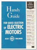 Allis-Chalmers 1946 vintage electrical catalog motors handy guide data