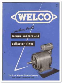 B A Wesche Electric Company 1946 vintage catalog torque motors custom