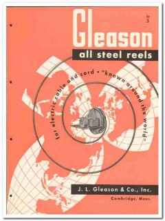 J L Gleason Company 1946 vintage electrical catalog steel reels cable