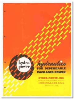 Hydro-Power Inc 1946 vintage industrial catalog hydraulics pumps valve