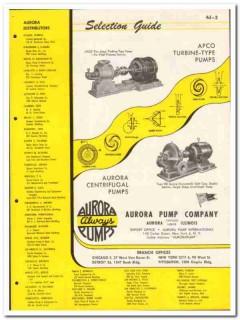 Aurora Pump Company 1946 vintage industrial catalog turbine-type APCO
