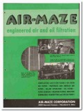 Air-Maze Corp 1946 vintage industrial catalog air oil filtration panel