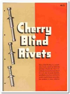 Cherry Rivet Company 1946 vintage hardware catalog self plugging blind