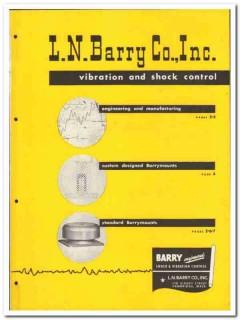 L N Barry Company 1946 vintage industrial catalog vibration shock