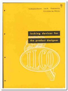 Independent Lock Company 1946 vintage hardware catalog locking devices