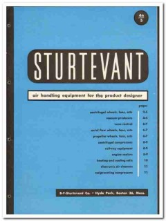 B F Sturtevant Company 1946 vintage industrial catalog air handling