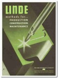 Linde Air Products Company 1946 vintage industrial catalog methods