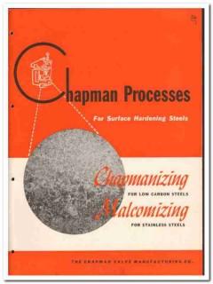 Chapman Valve Mfg Company 1946 vintage metal catalog hardening steels