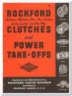 Borg-Warner Corp 1946 vintage industrial catalog Rockford Clutches PTO