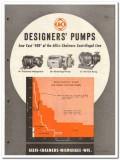 Allis-Chalmers 1946 vintage industrial catalog designer pumps