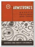 Armstrong Cork Company 1946 vintage rubber catalog gaskets seals