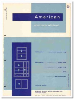 American Window Door Company 1958 vintage catalog aluminum double hung