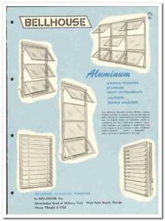 Bellhouse Inc 1958 vintage windows catalog aluminum jalousie awning