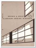 Brown Grist Inc 1958 vintage windows catalog aluminum awning vent