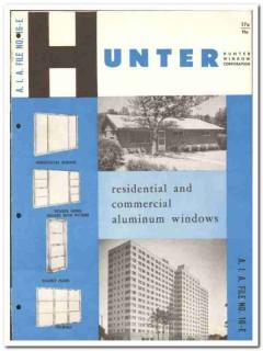 Hunter Window Corp 1958 vintage catalog aluminum commercial sliders
