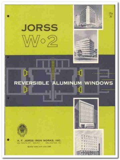 A F Jorss Iron Works Inc 1958 vintage windows catalog reversible