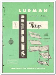 Ludman Corp 1958 vintage windows catalog aluminum awning Auto-Lok