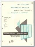 Peterson Window Corporation 1958 vintage catalog aluminum sliding